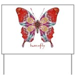Attraction Butterfly Yard Sign