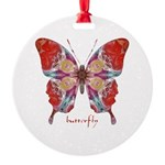 Attraction Butterfly Round Ornament