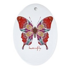 Attraction Butterfly Ornament (Oval)