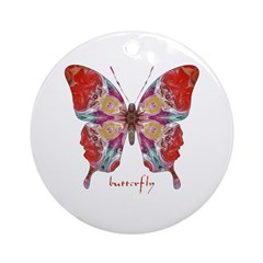 Attraction Butterfly Ornament (Round)