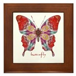 Attraction Butterfly Framed Tile