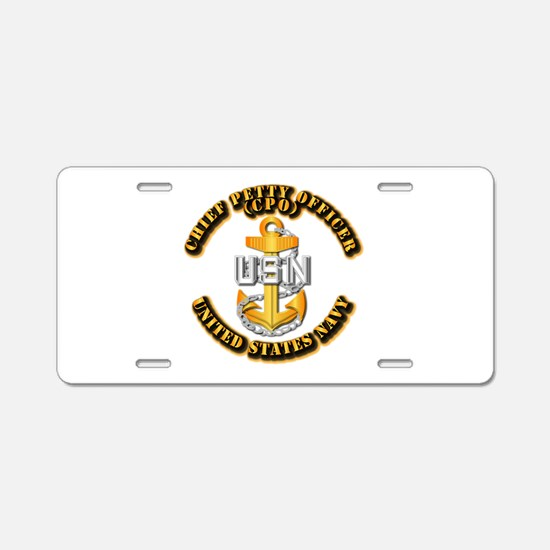 Navy - CPO - CPO Aluminum License Plate