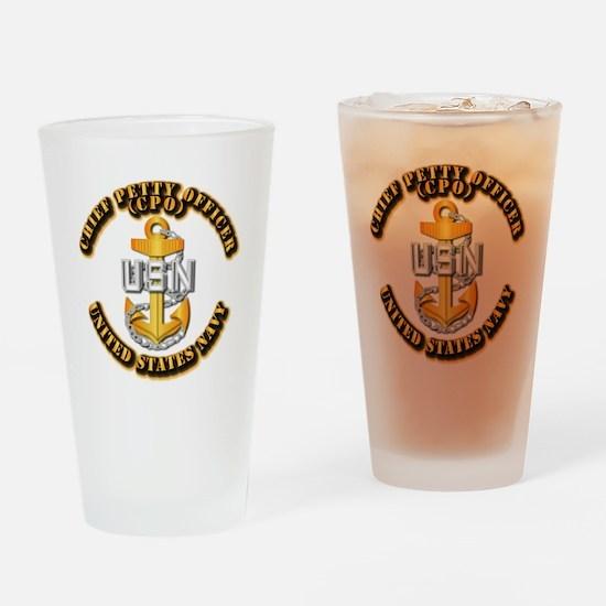 Navy - CPO - CPO Drinking Glass