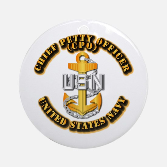 Navy - CPO - CPO Ornament (Round)