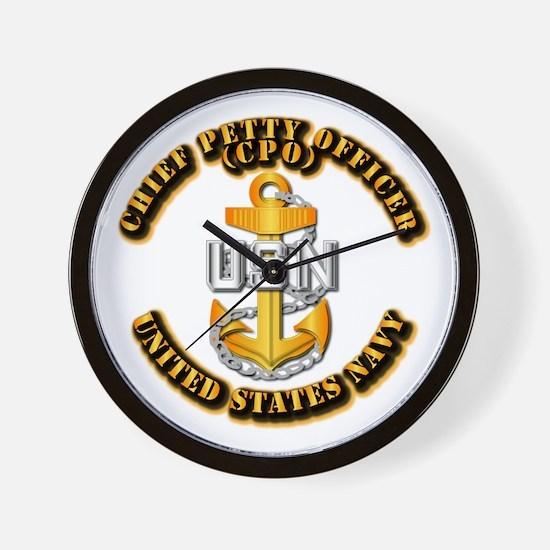 Navy - CPO - CPO Wall Clock
