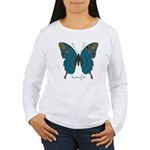 Birthing Butterfly Women's Long Sleeve T-Shirt
