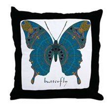 Birthing Butterfly Throw Pillow