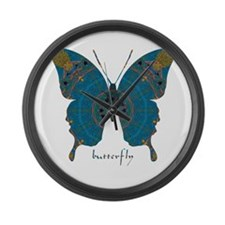 Birthing Butterfly Large Wall Clock