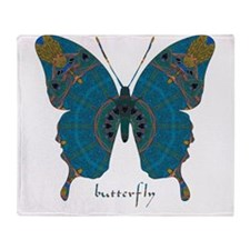 Birthing Butterfly Throw Blanket