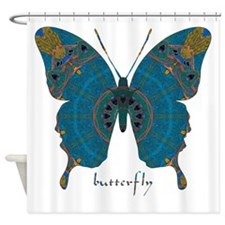 Birthing Butterfly Shower Curtain