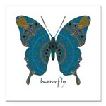 Birthing Butterfly Square Car Magnet 3