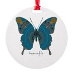 Birthing Butterfly Round Ornament