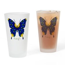 Charisma Butterfly Drinking Glass