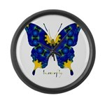 Charisma Butterfly Large Wall Clock
