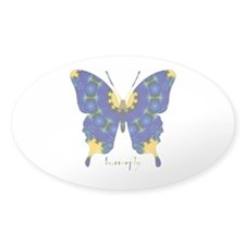 Charisma Butterfly Sticker (Oval)