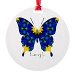 Charisma Butterfly Round Ornament