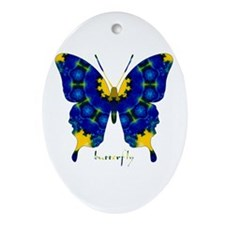 Charisma Butterfly Ornament (Oval)
