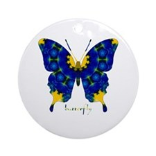 Charisma Butterfly Ornament (Round)