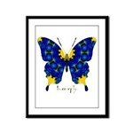 Charisma Butterfly Framed Panel Print