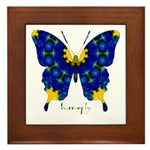 Charisma Butterfly Framed Tile