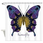 Communion Butterfly Shower Curtain