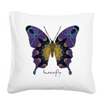 Communion Butterfly Square Canvas Pillow