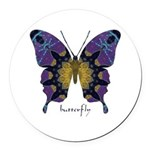 Communion Butterfly Round Car Magnet