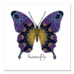 Communion Butterfly Square Car Magnet 3