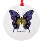 Communion Butterfly Round Ornament