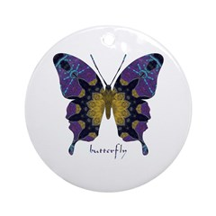 Communion Butterfly Ornament (Round)