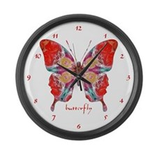 Attraction Butterfly Clock Large Wall Clock