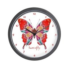 Attraction Butterfly Clock Wall Clock
