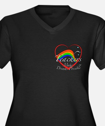 Teacher Appreciation Women's Plus Size V-Neck Dark