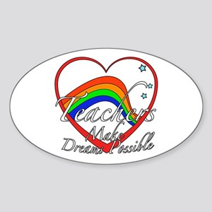 Teacher Appreciation Sticker (Oval)