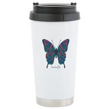 Yogi Butterfly Stainless Steel Travel Mug
