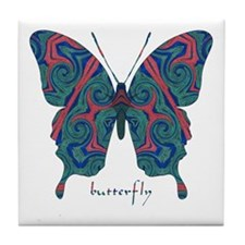 Yogi Butterfly Tile Coaster