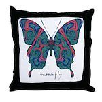 Yogi Butterfly Throw Pillow