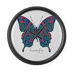 Yogi Butterfly Large Wall Clock