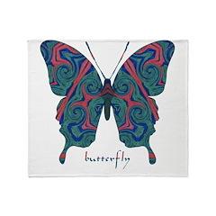 Yogi Butterfly Throw Blanket