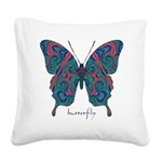 Yogi Butterfly Square Canvas Pillow