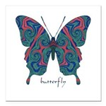 Yogi Butterfly Square Car Magnet 3