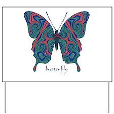 Yogi Butterfly Yard Sign