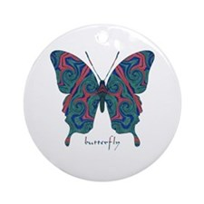 Yogi Butterfly Ornament (Round)