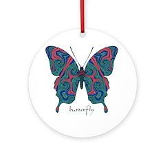 Yogi Butterfly Ornament (Round)