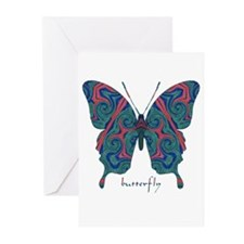 Yogi Butterfly Greeting Cards (Pk of 10)