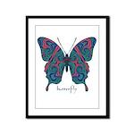 Yogi Butterfly Framed Panel Print