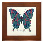 Yogi Butterfly Framed Tile