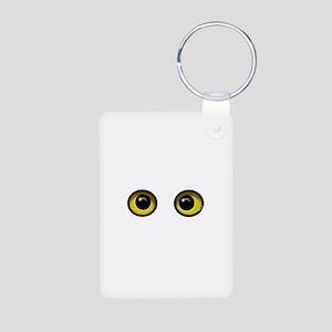 Eyes Aluminum Photo Keychain
