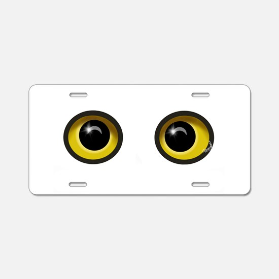 Eyes Aluminum License Plate