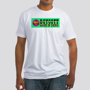 Boycott Made In China K9 Kill Fitted T-Shirt